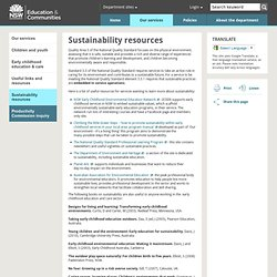 Sustainability resources - NSW Department of Education & Communities