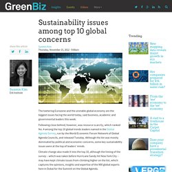 Sustainability issues among top 10 global concerns