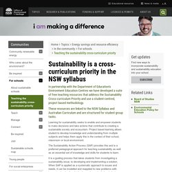 Teaching sustainability cross-curriculum
