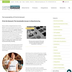The Sustainability of Print-On-Demand