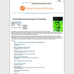 On Design » Sustainability Research by Designers: An Anthology