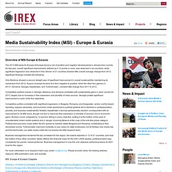 IREX - Civil Society, Education and Media Development