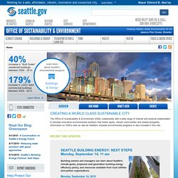 Office of Sustainability & Environment - Seattle
