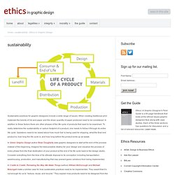 sustainability - Ethics in Graphic Design