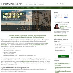 Agroforestry for Sustainability: An Online Resource Collection: ForestryDegree.net