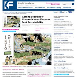 Getting Local: How Nonprofit News Ventures Seek Sustainability