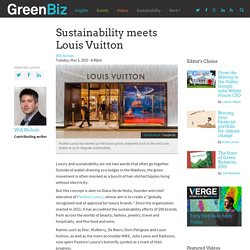 Sustainability meets Louis Vuitton
