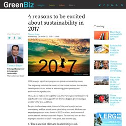 4 reasons to be excited about sustainability in 2017