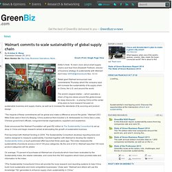 Walmart commits to scale sustainability of global supply chain