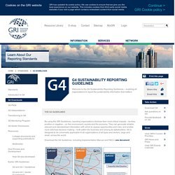 G4 Sustainability Reporting Guidelines