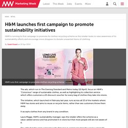 H&M launches first campaign to promote sustainability initiatives
