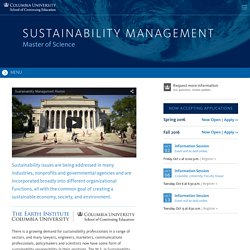 Sustainability Management