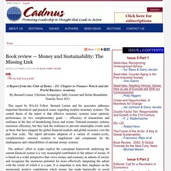 Book review — Money and Sustainability: The Missing Link