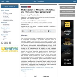 SUSTAINABILITY 09/08/19 Modernization of African Food Retailing and (Un)healthy Food Consumption