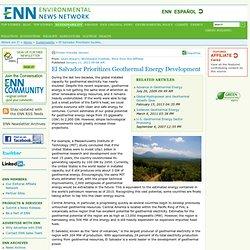 El Salvador Prioritizes Geothermal Energy Development