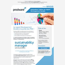 Sustainability Manager Suite by Prodware