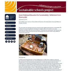 Early Childhood Education for Sustainability - Reflections from Downunder