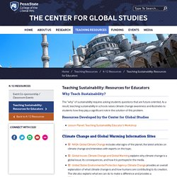 Teaching Sustainability: Resources for Educators — The Center for Global Studies