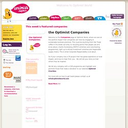 The Optimist - Responsible Companies