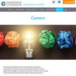 Careers in sustainability and corporate responsibility