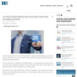 UL EHS Sustainability launches New Free tool simplifying OSHA