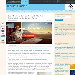 Social Delivery Service Nimber Set to Boost Sustainability of UK Delivery Sector