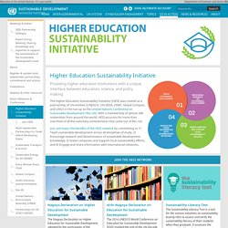 Higher Education Sustainability Initiative