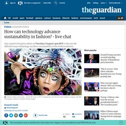 How can technology advance sustainability in fashion? - live chat
