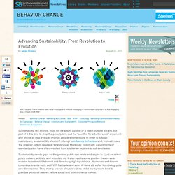 Advancing Sustainability: From Revolution to Evolution