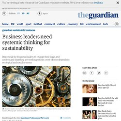Business leaders need systemic thinking for sustainability