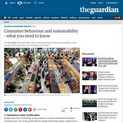 Consumer behaviour and sustainability - what you need to know