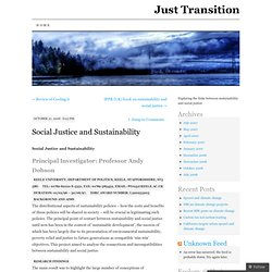 Social Justice and Sustainability