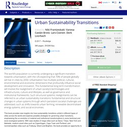 Urban Sustainability Transitions.