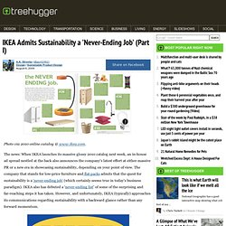 IKEA Admits Sustainability a 'Never-Ending Job' (Part I)