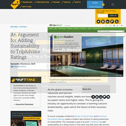 An Argument for Adding Sustainability to TripAdvisor Ratings