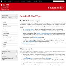 Food Tips - Sustainability - University of Canterbury - New Zealand