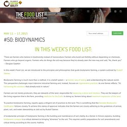 Lexicon of SustainabilityThe Food List: Biodynamics