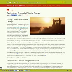 Agriculture, Energy & Climate Change
