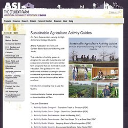 Sustainable Agriculture Activity Guides — ASI