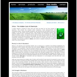 Sustainable Farming News & Biological Agriculture Information. » Blog Archive » Silica – The Hidden Cost of Chemicals