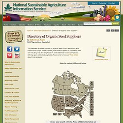 Organic Seed Suppliers