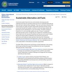Sustainable Alternative Jet Fuels