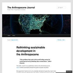 Rethinking sustainable development in the Anthropocene