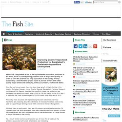 FISHSITE 23/07/13 Improving Quality Tilapia Seed Production for Bangladesh's Sustainable Aquaculture Development
