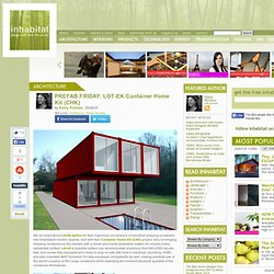 Prefab microcompacttinyhomes pearltrees - Lot ek container home kit ...