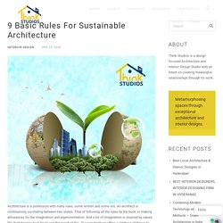 Sustainable Architecture Designs