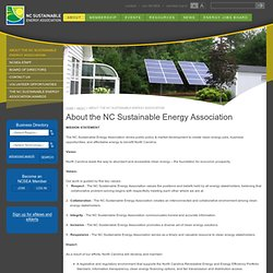About NCSEA > North Carolina Sustainable Energy Association