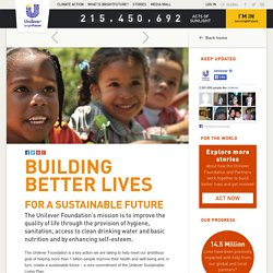 Building better lives for a sustainable future