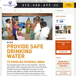 Provide safe drinking water to families in rural India
