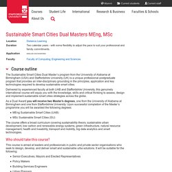 Sustainable Smart Cities Dual Masters